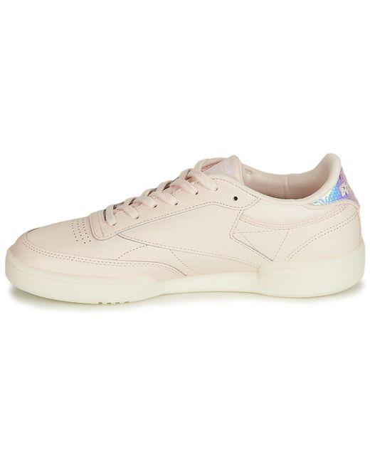 Reebok Lage Sneakers Club C 85 in het Pink