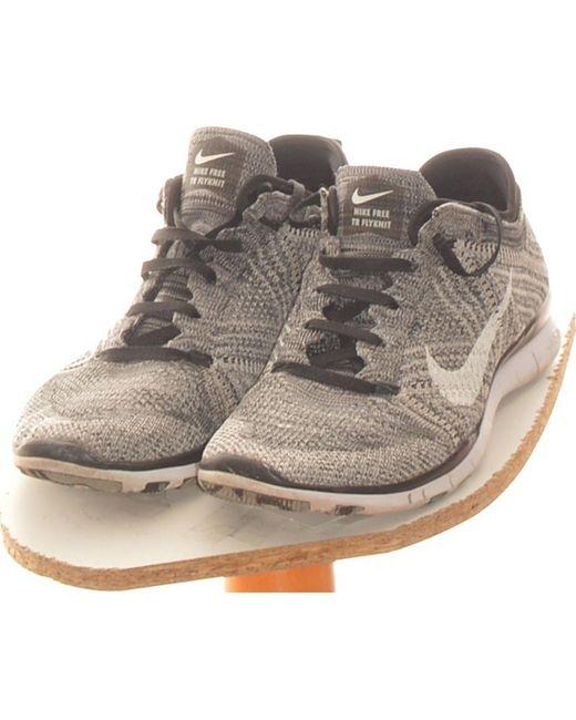 Paire De Baskets 38 Chaussures Nike en coloris Gris - Lyst