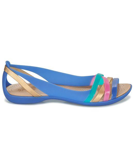 c965c11310b82 Crocs™ Isabella Huarache 2 Flat W Women s Sandals In Blue in Blue - Lyst