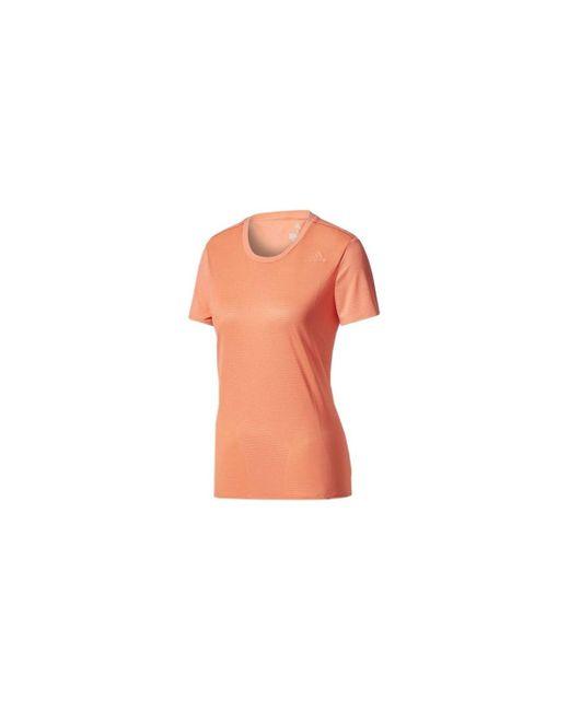 SN SS Tee W T-shirt Adidas en coloris Orange