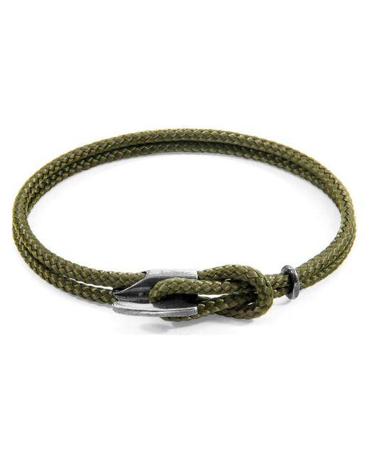 Anchor Crew Bracelet Padstow Argent Et Corde Bracelets Anchor & Crew pour homme en coloris Green