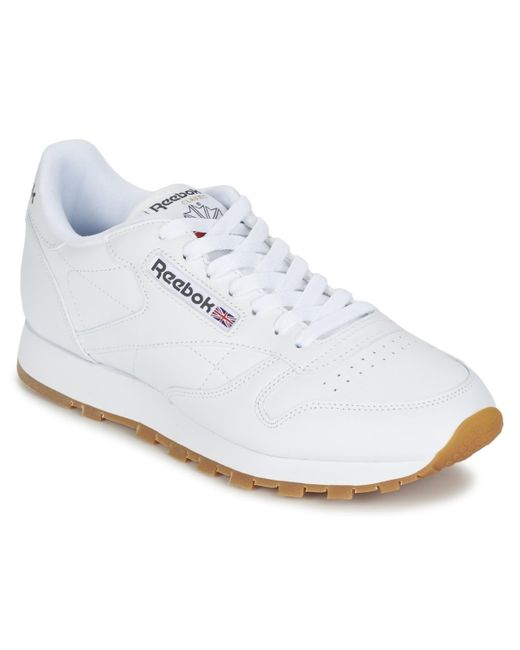Reebok Lage Sneakers Classic Leather in het White