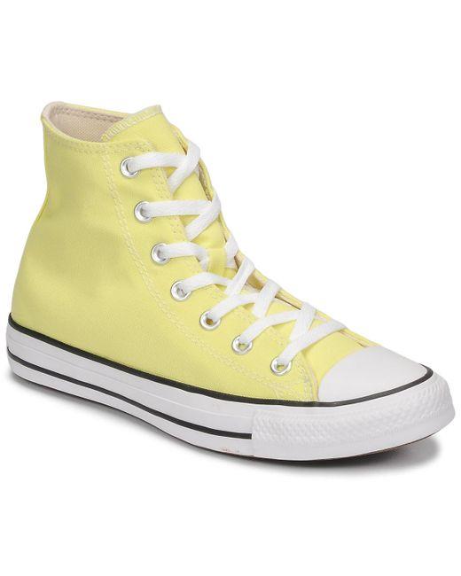 Baskets Converse en coloris Jaune - 10 % de réduction - Lyst