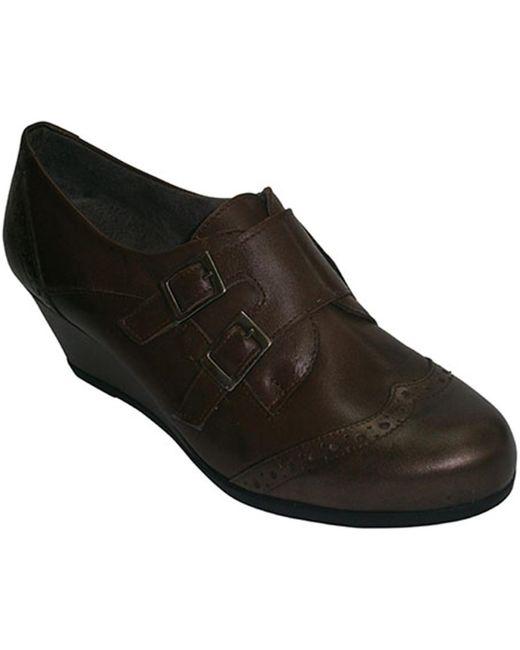 Mocassins Chaussures compensées avec deux boucles Pitillos en coloris Brown