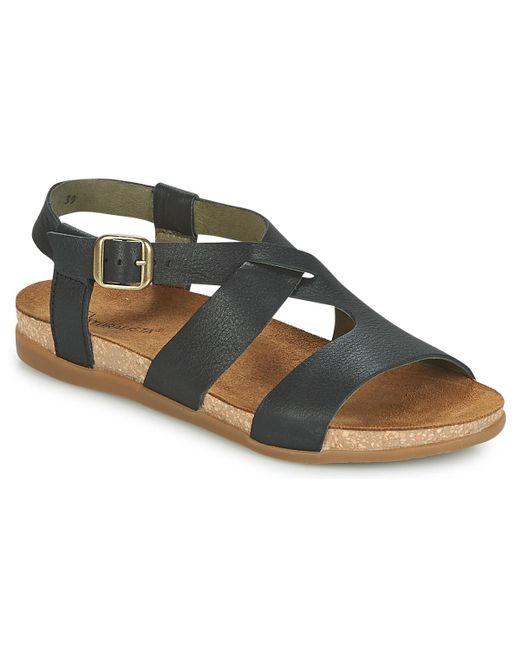 El Naturalista - Zumaia Women's Sandals In Black - Lyst