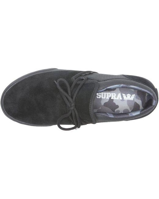 Chaussures CUBA black black camo Chaussures Supra