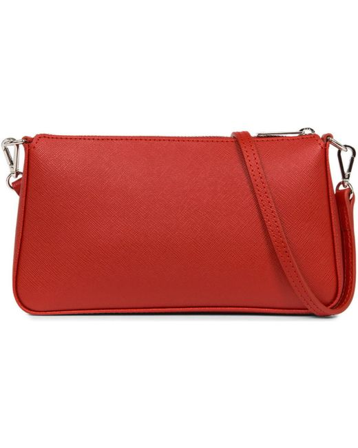 Pochette Pochettes Saffiano Intemporel Lancaster en coloris Red