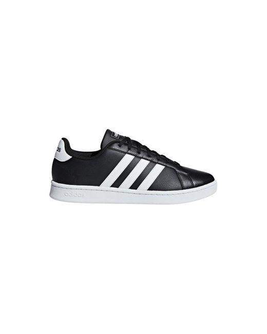 Grand Court Chaussures adidas pour homme en coloris Noir - Lyst