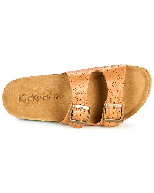Kickers Slippers Ecolog in het Brown