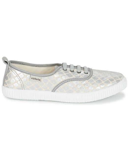 INGLES TEJ PLACA SERPIENTE Chaussures Victoria en coloris Metallic