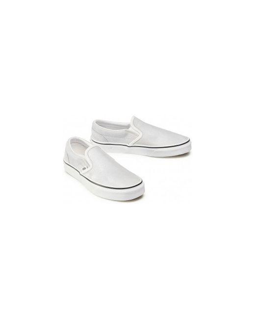 Baskets slippers blanc argent multi Chaussures Vans en coloris ...