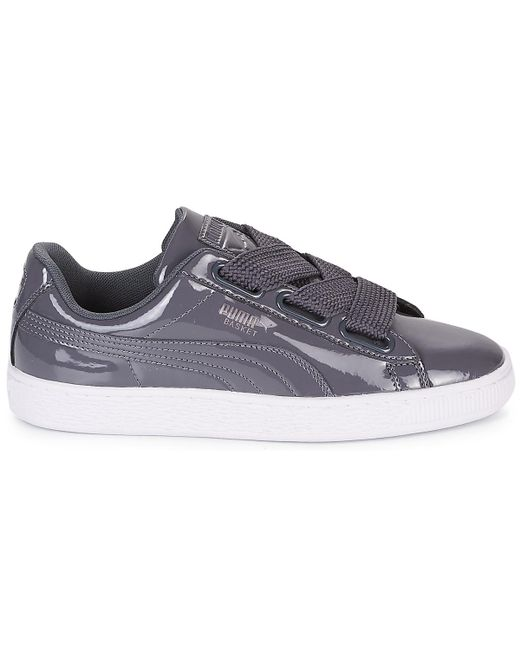 PUMA Wn Basket Heart Patent.iro Shoes (trainers) in Grey