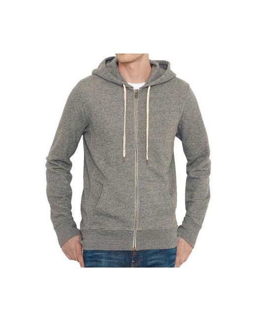 Levi's - Gray Levis Original Zip Up Hoodie Men's Sweatshirt In Grey for Men - Lyst