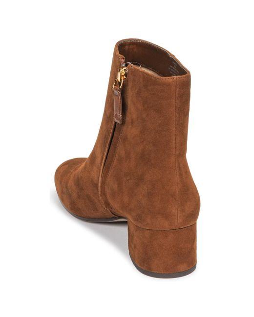 Lauren by Ralph Lauren Enkellaarzen Wharton-boots-casual in het Brown