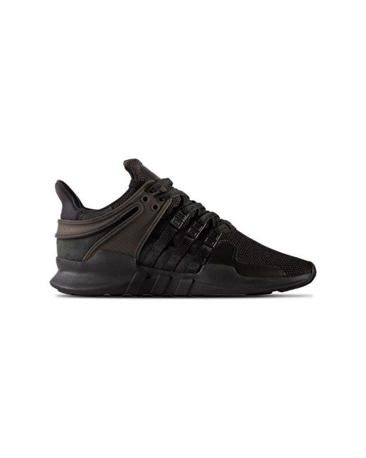 reputable site 48105 5b7a7 Adidas - Eqt Support Adv Womens Shoes (trainers) In Black - Lyst ...