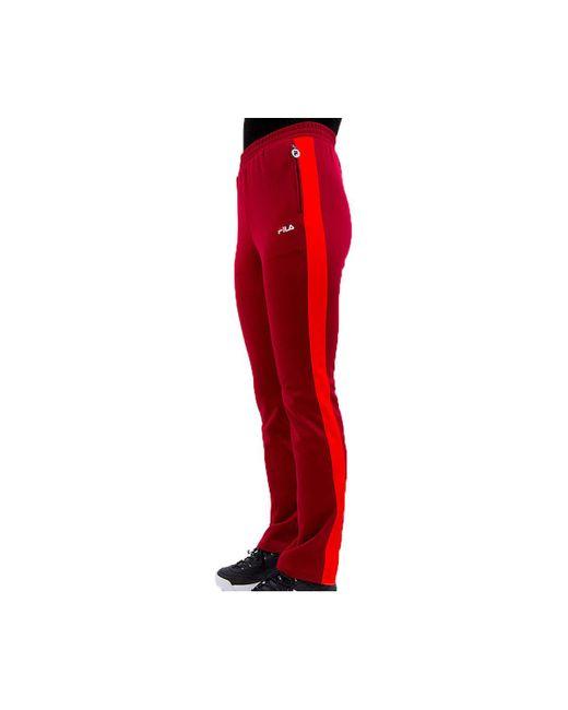 Fila Pantalon Nery Track femmes Jogging en rouge EnwAC