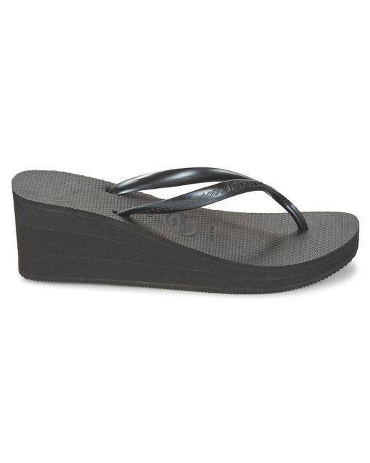 83bd7958f0a ... Lyst Havaianas - High Fashion Women s Flip Flops   Sandals (shoes) In  Black ...
