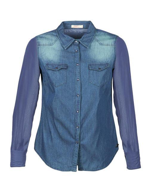 Ddp - Itea Women's Shirt In Blue - Lyst