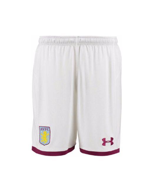 Under Armour - 2017-2018 Aston Villa Home Football Shorts - Kids Women's Shorts In White - Lyst