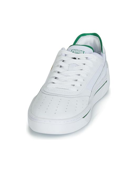 322f42a588f05 PUMA Cali.wh-amazon Green-wh Men's Shoes (trainers) In White for Men ...