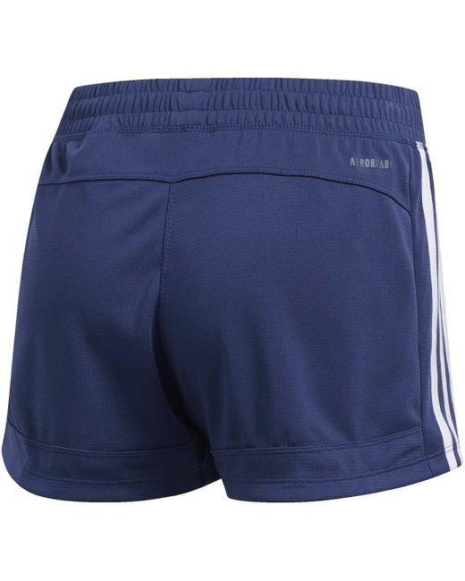 Short Short Pacer 3-Stripes Knit Adidas en coloris Blue