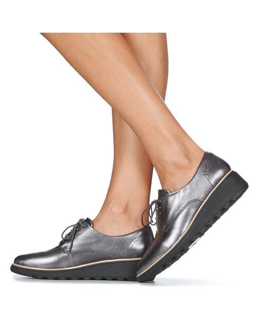 Clarks Nette Schoenen Sharon Noel in het Metallic