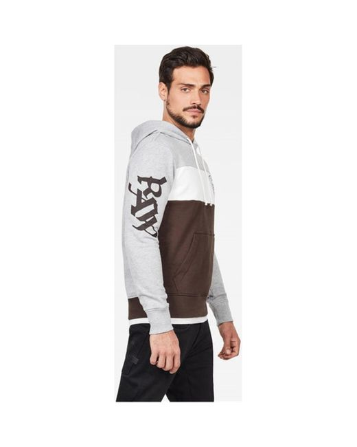 Sweat-shirt D15692 A612 GRAPHIC 15 G-Star RAW pour homme en coloris Gray