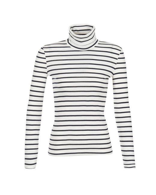 Petit Bateau | Loter Women's Long Sleeve T-shirt In White | Lyst