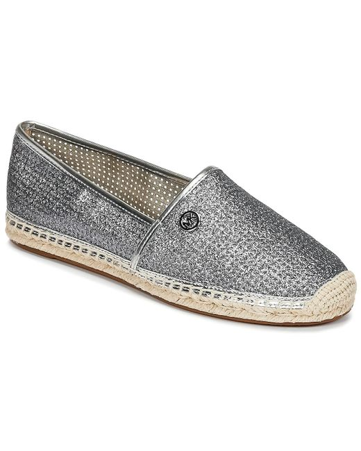 MICHAEL Michael Kors - Metallic Kendrick Slip On Women's Espadrilles / Casual Shoes In Silver - Lyst