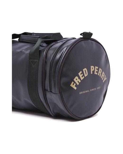Classic Barrel Bag Sac de voyage Fred Perry pour homme en coloris Black