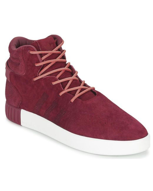 new product e306a 92678 Men's Red Tubular Invader Shoes (high-top Trainers)