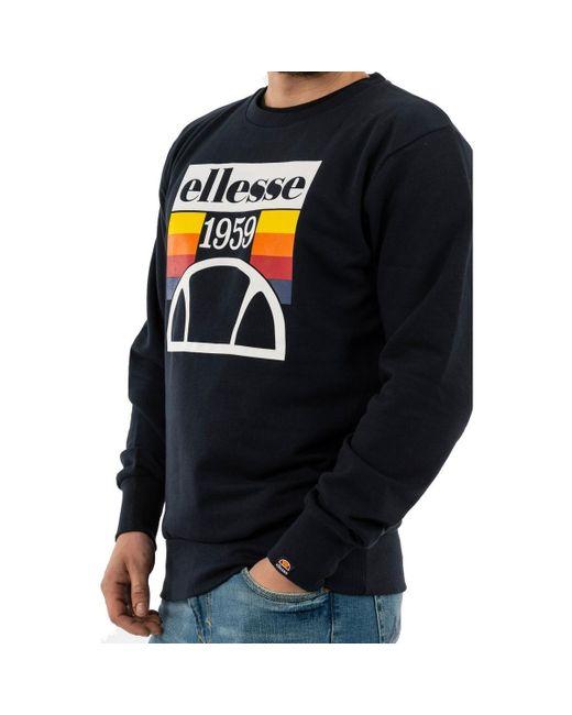Sweat-shirt tucci navy Ellesse pour homme en coloris Blue