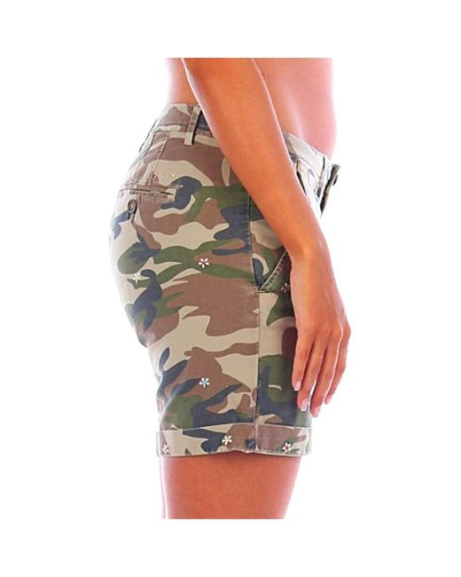 MAYA Short 40weft en coloris Green