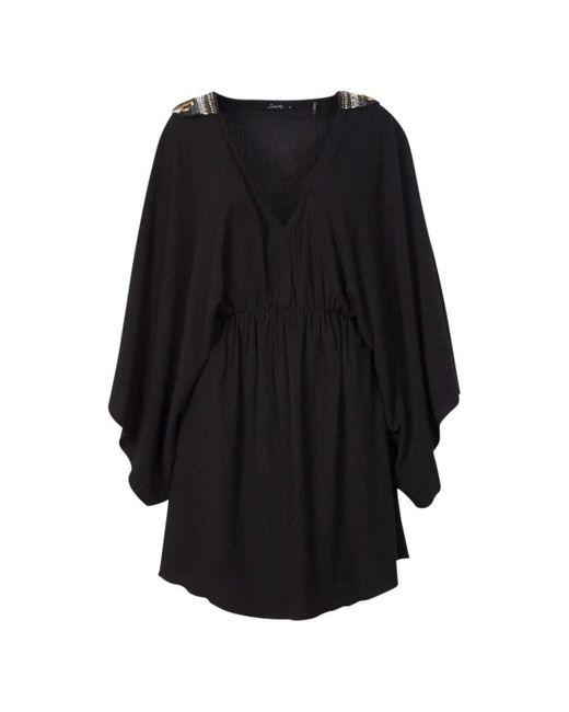 Robe Manches Chauve Souris Lisiane Robe School Rag en coloris Black