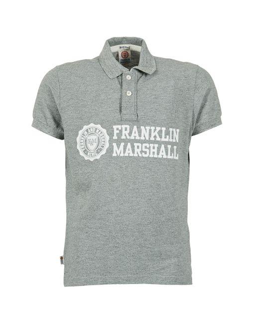 Franklin & Marshall - Gray Aylen Men's Polo Shirt In Grey for Men - Lyst