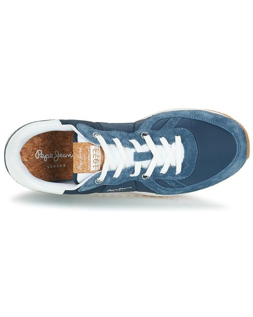 Pepe Jeans Denim Tinker Pro Shoes (trainers) in Blue for Men
