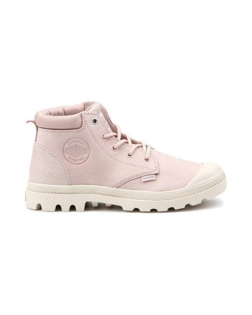Low Cuf Lea W Boots Palladium en coloris Pink