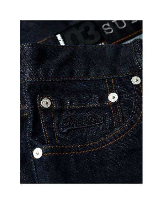Superdry M70000SR Jeans homme de coloris bleu