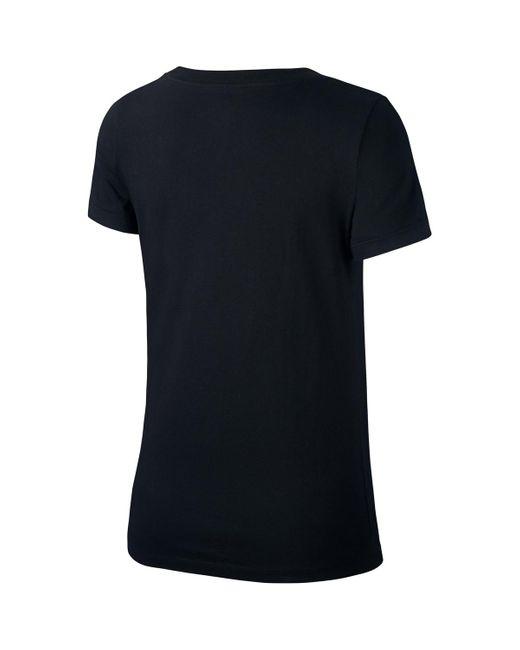 Glitter Tee Women T-shirt Nike en coloris Black