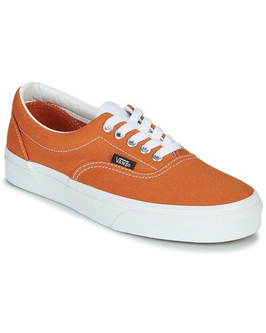 Chaussures Retro Sport Era Caoutchouc Vans en coloris Orange - 35 ...