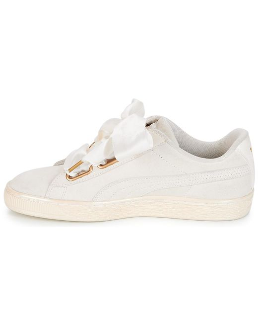 finest selection ce19e 90a07 Women's Wn Suede Heart Satin.white Shoes (trainers)
