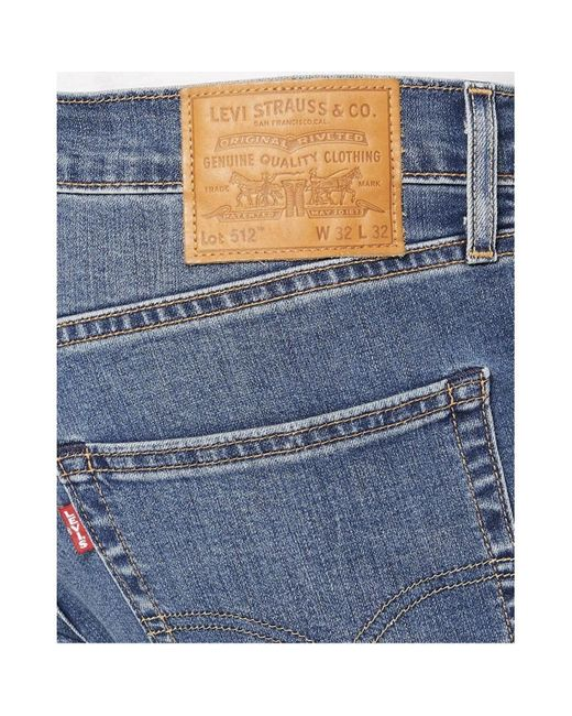 Taper 512 jeans 28833-0655 L30 Levi's de hombre de color Blue