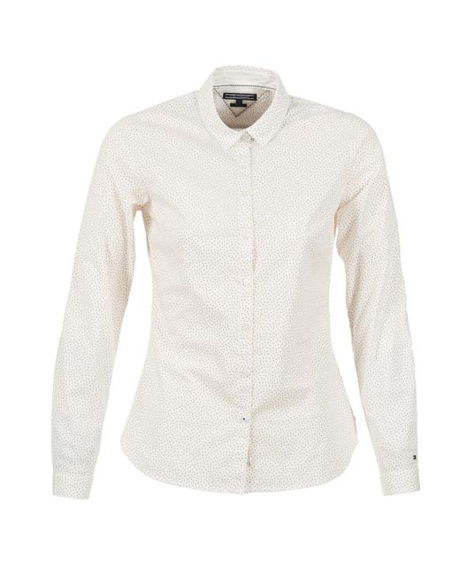 Tommy Hilfiger | Delia Women's Shirt In White | Lyst