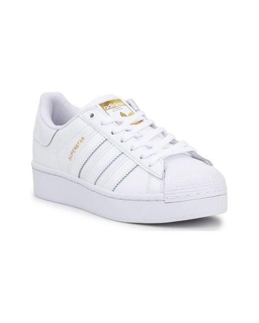 Superstar Bold W Adidas de color White