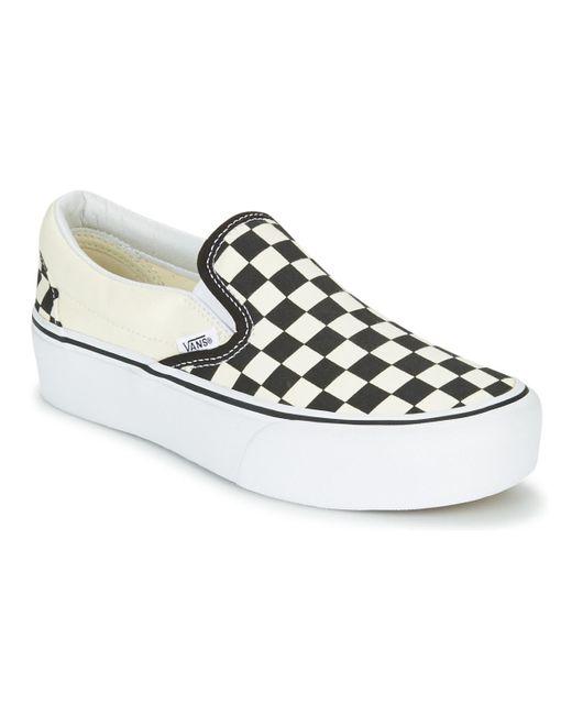 Slip-On femmes Chaussures en blanc Vans en coloris Blanc - 20 % de ...