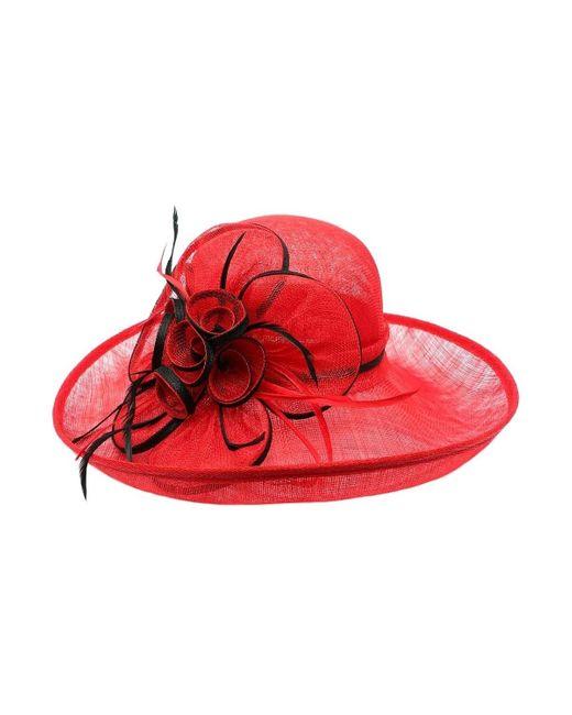 Chapeau Mariage Rouge Léon Montane en coloris Red