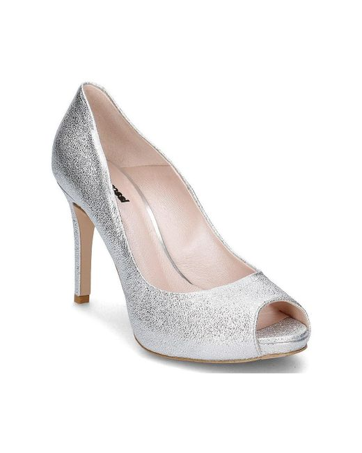 Gino Rossi - Metallic Olivia Women's Court Shoes In Silver - Lyst