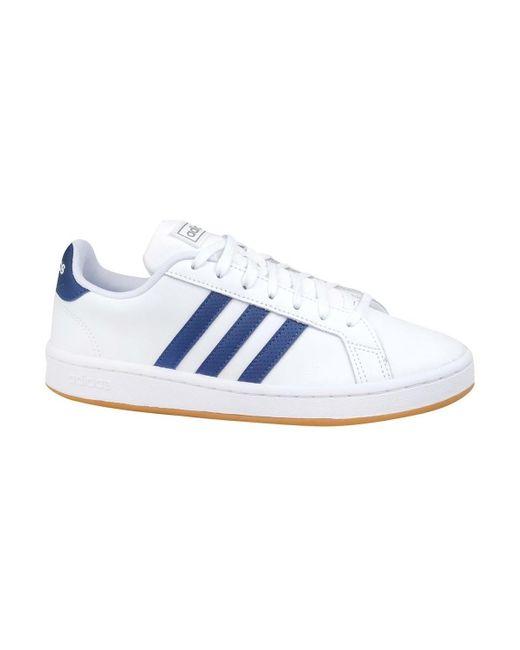 Grand Court Base Chaussures adidas pour homme en coloris Bleu - Lyst