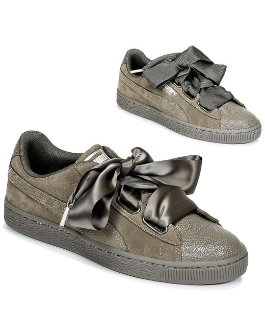 lowest price 6857c e4b1d Women's Green Suede Heart Bubble W's Shoes (trainers)