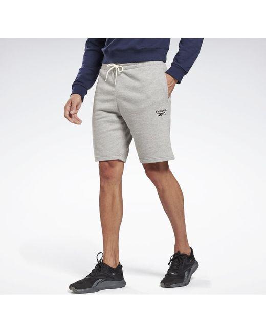 Pantalón corto Identity Reebok de hombre de color Gray